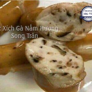 xúc xích gà nấm hương